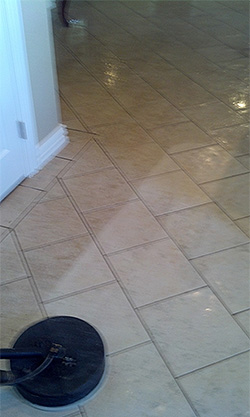 Granbury tile cleaning project.