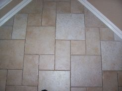 Tile and grout before cleaning.