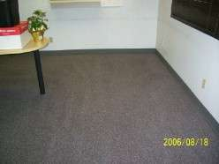 After commercial carpet cleaning.